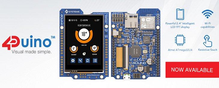 4Duino – használatra kész Arduino modul kijelzővel