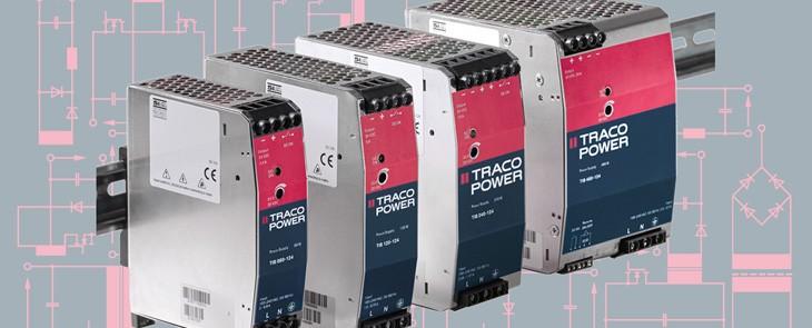 Robusztus és megbízható TRACO POWER DIN-sínre szerelhető tápegységek